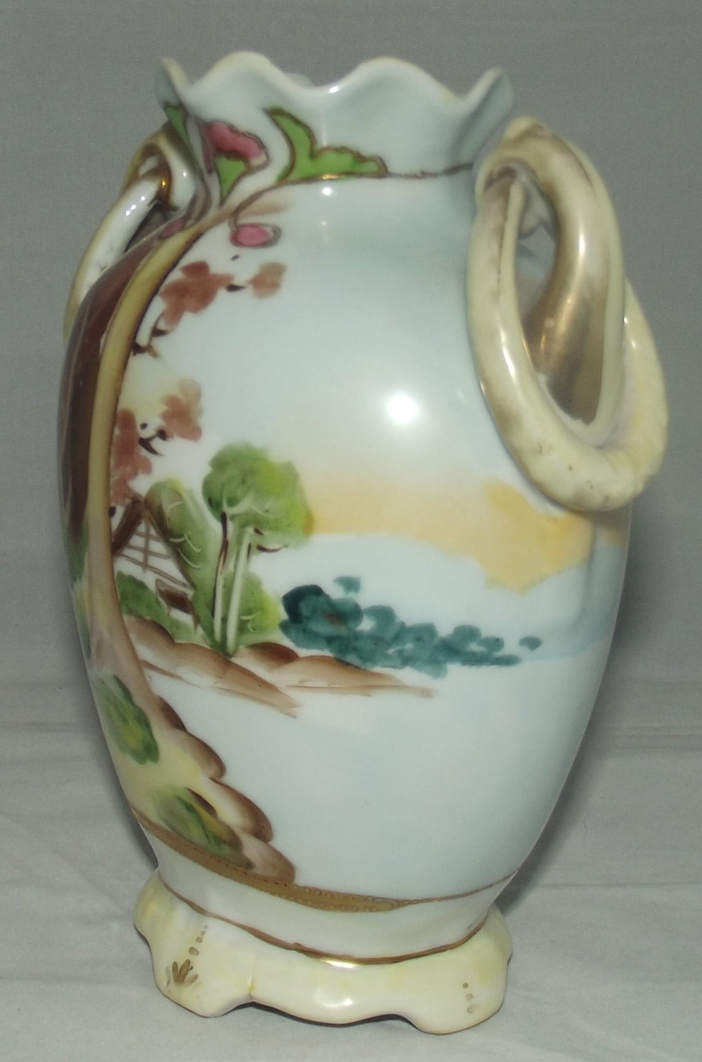 Imperial nippon vase c1921 scenic loop handles hand painted reviewsmspy